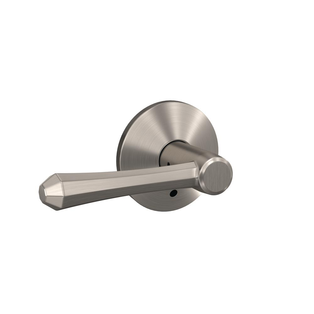 Schlage Custom Dempsey Satin Nickel Kinsler Trim Combined Interior Door Lever Fc21 Dmp 619 Kin
