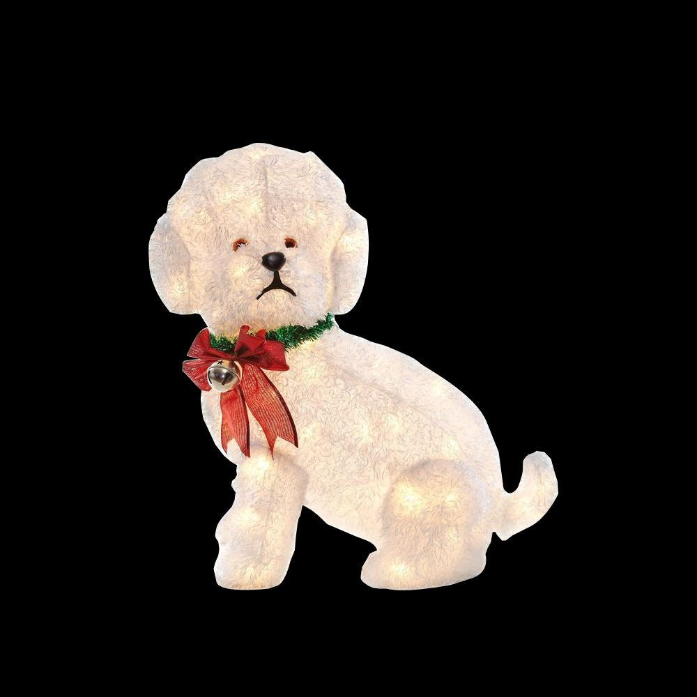 Home Accents Holiday 24 In. Pre-Lit Fluffy Dog-TY073-1314