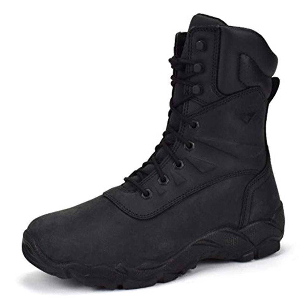 Men's Black Nubuck Size 9.5 E US 8 in. Steel Toe Work Boot