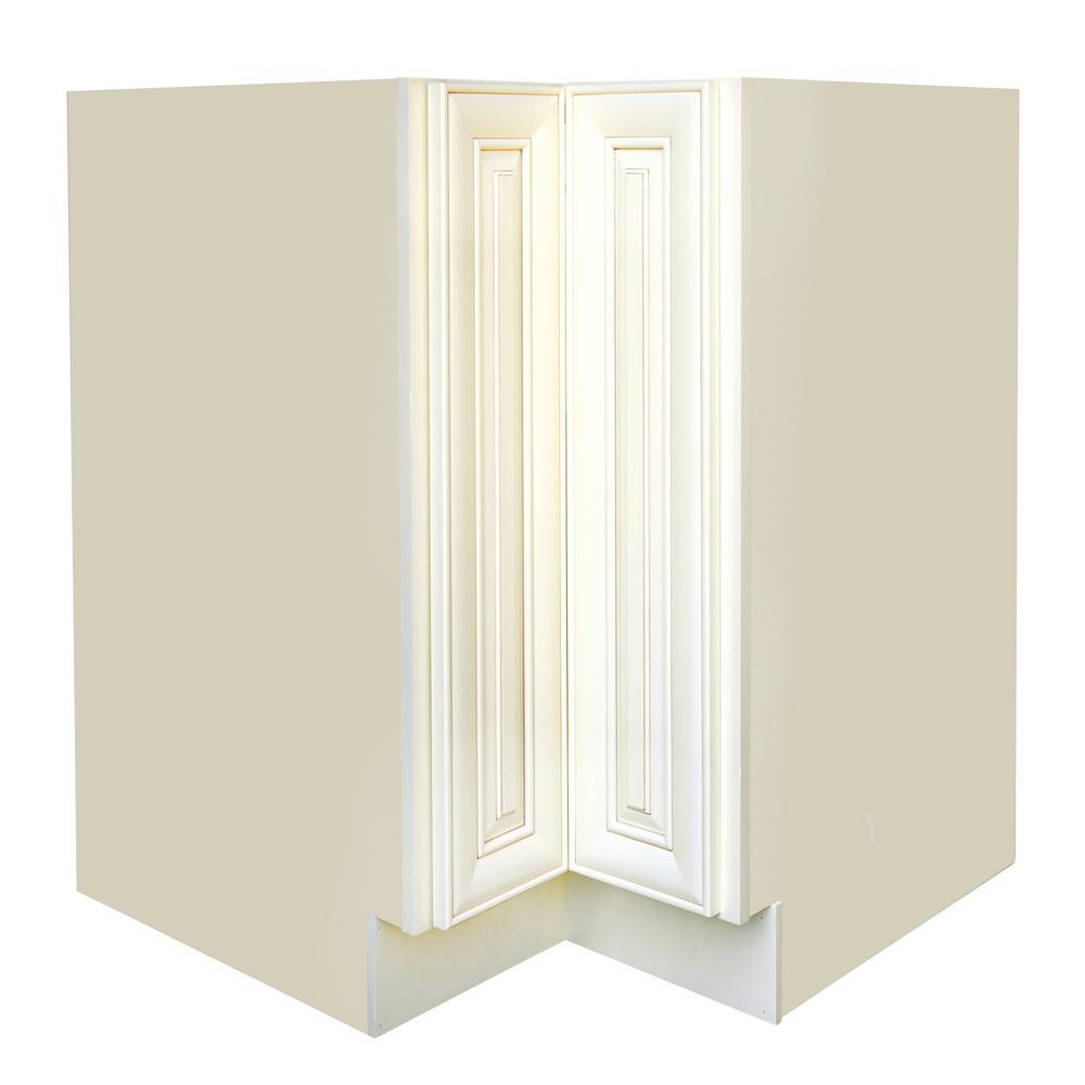 White Antique Kitchen Cabinets: Plywell Ready To Assemble Holden 36x34.5x24 In. Base Lazy