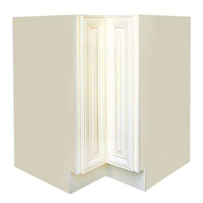 Plywell Ready to Assemble Holden 36x34.5x24 in. Base Lazy Susan Cabinet in Antique White