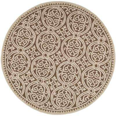 Cambridge Tan/Multi 8 ft. x 8 ft. Round Area Rug