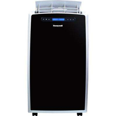 14,000 BTU Portable Air Conditioner with Dehumidifier and Remote Control in Black and Silver