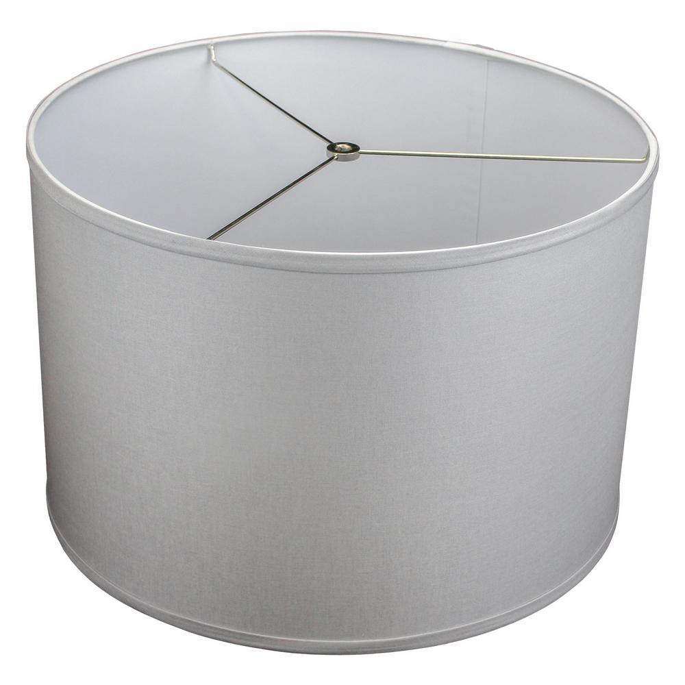 Fenchel Shades 18 in. Top Diameter x 18 in. Bottom Diameter x 12 in. Height Drum Lamp Shade - Linen Ivory
