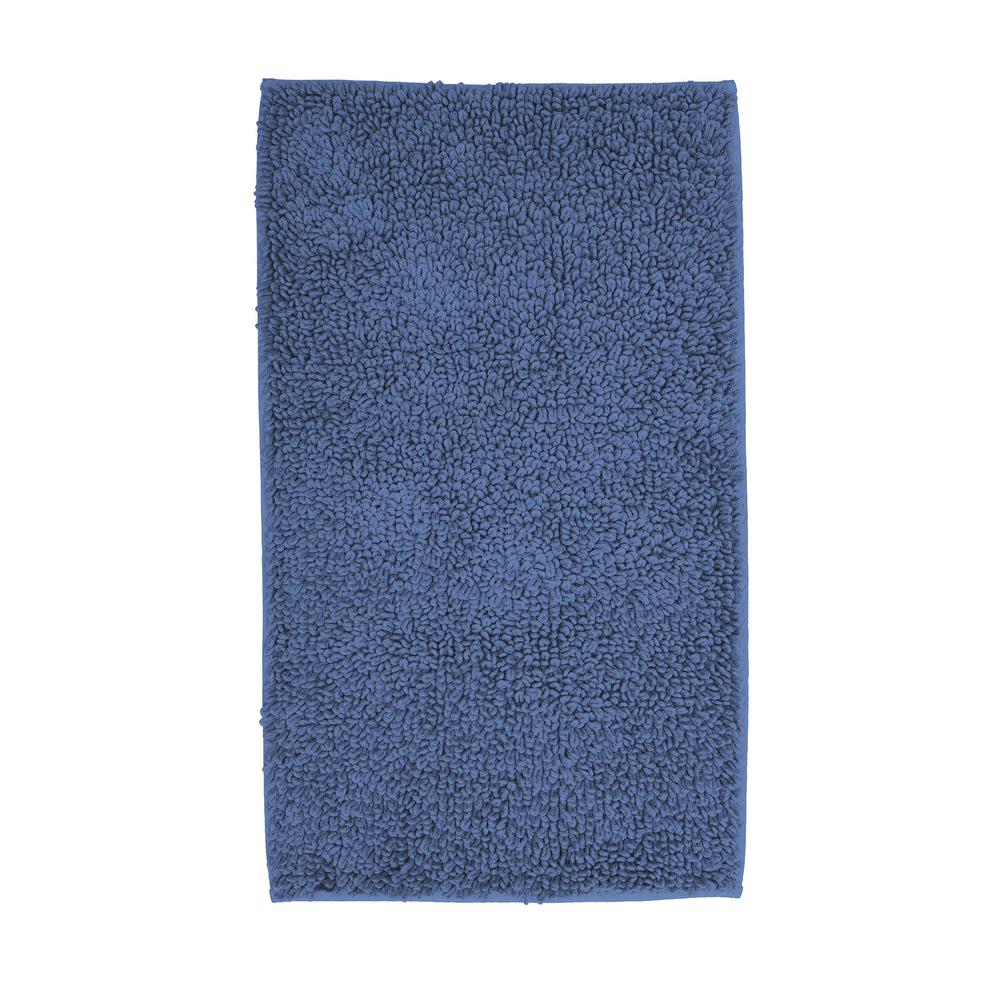 Chunky Loop Shire 34 In X 21 Cotton Rubber Backed Bath Rug