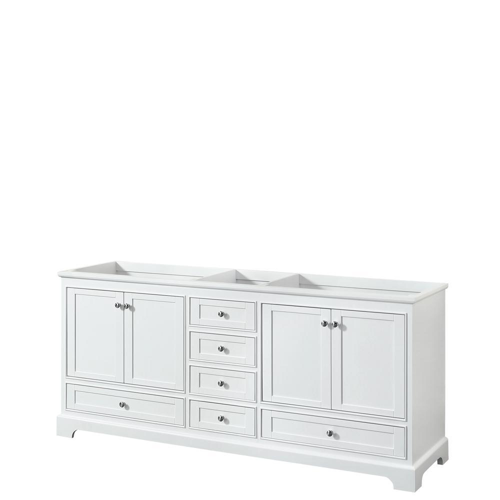 Deborah 79 in. W x 21.625 in. D Vanity Cabinet in White