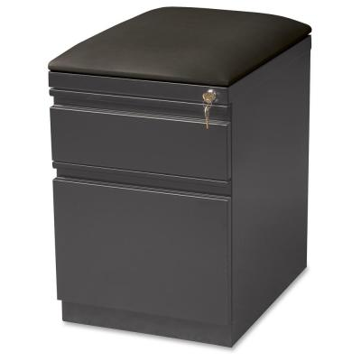 19.9 in. x 23.8 in. 3-Drawer Charcoal Seat Cushion Top Mobile File Pedestal File