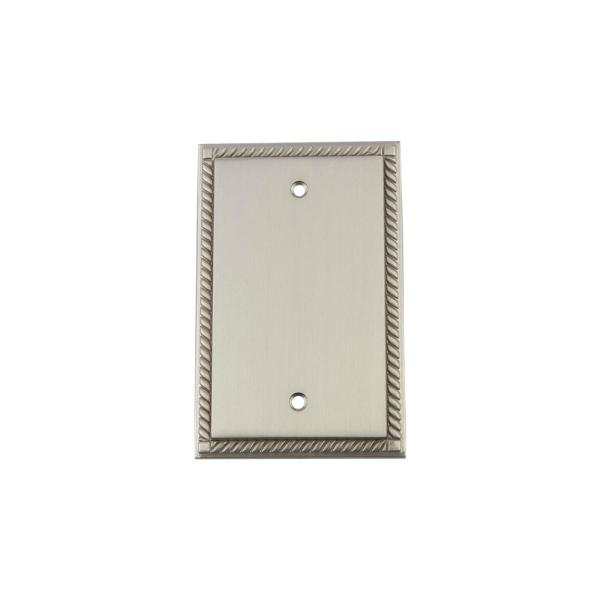 Nickel No Gang Blank Plate Wall Plate (1-Pack)
