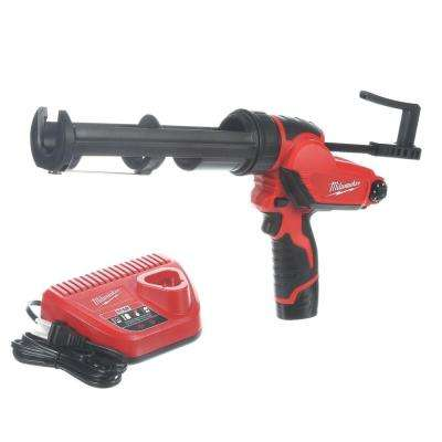 M12 12-Volt Lithium-Ion Cordless 10 oz. Caulk and Adhesive Gun Kit with (1) 1.5Ah Battery and Charger