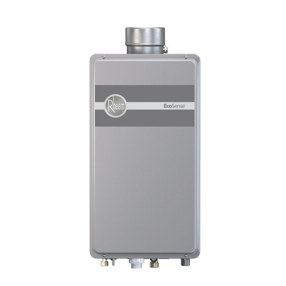 Rheem EcoSense 9.5 GPM Liquid Propane Gas Mid Efficiency Indoor Tankless Gas Water Heater