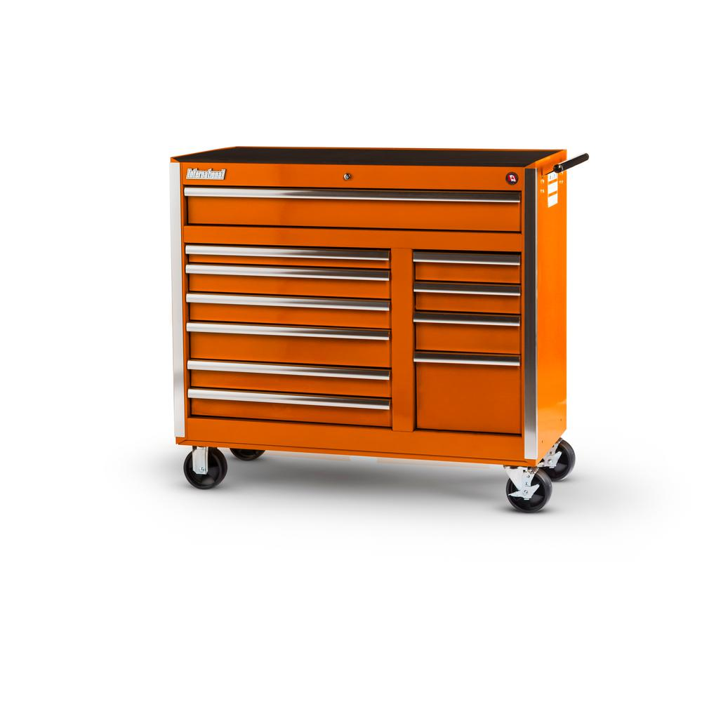 42 in. Tech Series 11-Drawer Cabinet, Orange