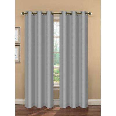 Semi-Opaque Camilla Faux Silk Room Darkening Lined Grommet Extra Wide Curtain Panel