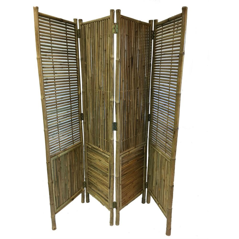 Mgp 72 In W X H Bamboo Screen 4 Panel Self Standing Screens