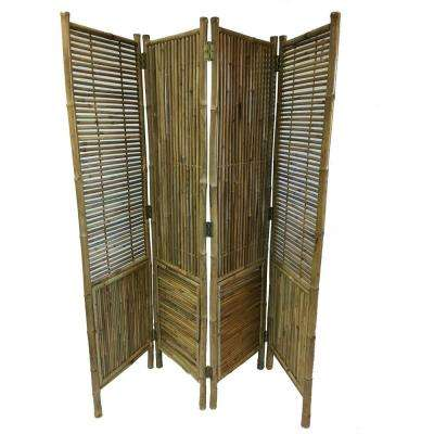 72 in. W x 72 in. H Bamboo Screen 4-Panel Self Standing Screens