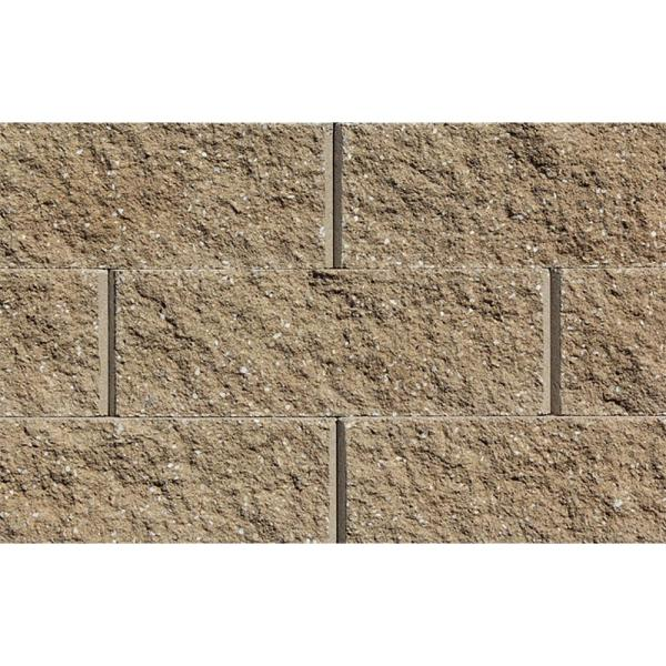 Mini 3 in. H x 8 in. W x 9 in D Sandstone Concrete Wall Cap (104 Pieces/69 Linear ft. /Pallet)