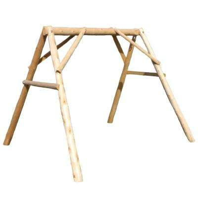 4 ft. Wood/Cedar Outdoor A-Frame Mount for Porch/Patio Swing