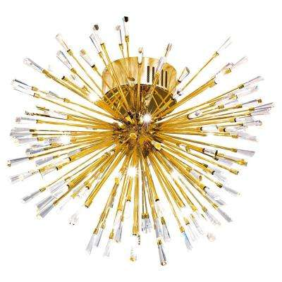 Vivaldo 19-Light Gold Ceiling Light