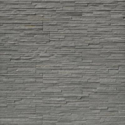 6 in. x 24 in. Charcoal Pencil Ledger Panel Slate Wall Tile (10 cases / 80 sq. ft. / pallet)