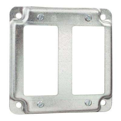 4 in. Square Box Cover for 2 GFCI Receptacles (Case of 10)