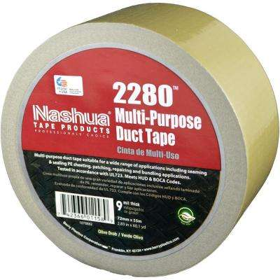 2.83 in. x 60.1 yds. 2280 Multi-Purpose Duct Tape in Olive Drab