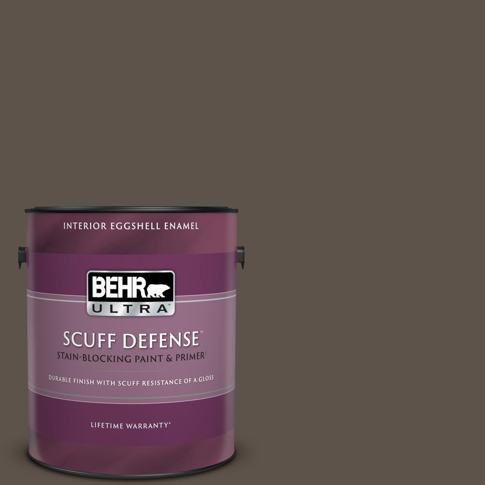 Behr Ultra 1 Gal Ecc 12 3 Shadow Wood Extra Durable Eggshell Enamel Interior Paint Primer 275301 The Home Depot