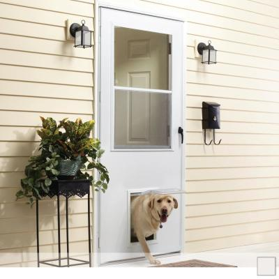K900 Series Self-Storing Storm Door with Pet Entry System