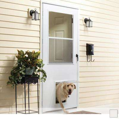 K900 Series 1/2 View Self-Storing Storm Door with Pet Entry System