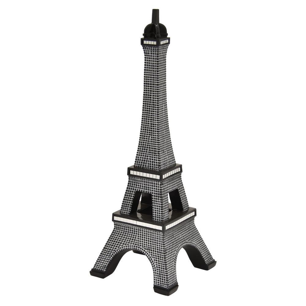 18.75 in. Black Eiffel Tower Tabletop