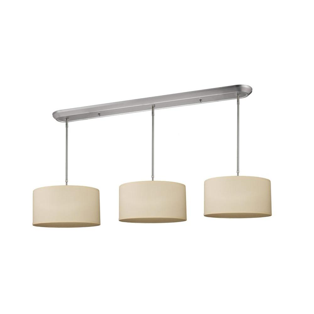 Filament Design Lawrence 9-Light Brushed Nickel Incandescent Ceiling Island Light