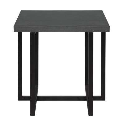 Baker Grey Top End Table