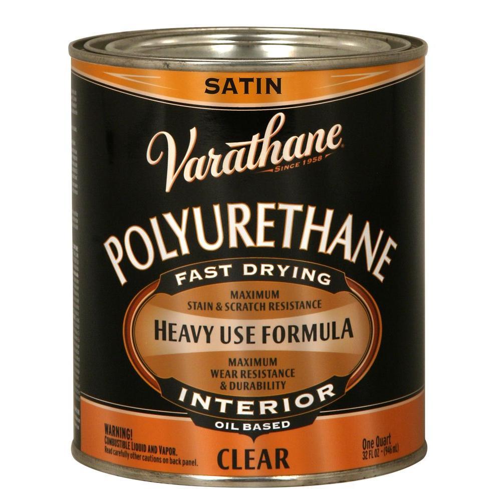 1 qt. Clear Satin Oil-Based Interior Polyurethane (Case of 2)