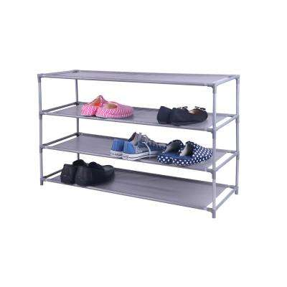 20-Pair Grey Plastic/Non-Woven Shoe Organizer