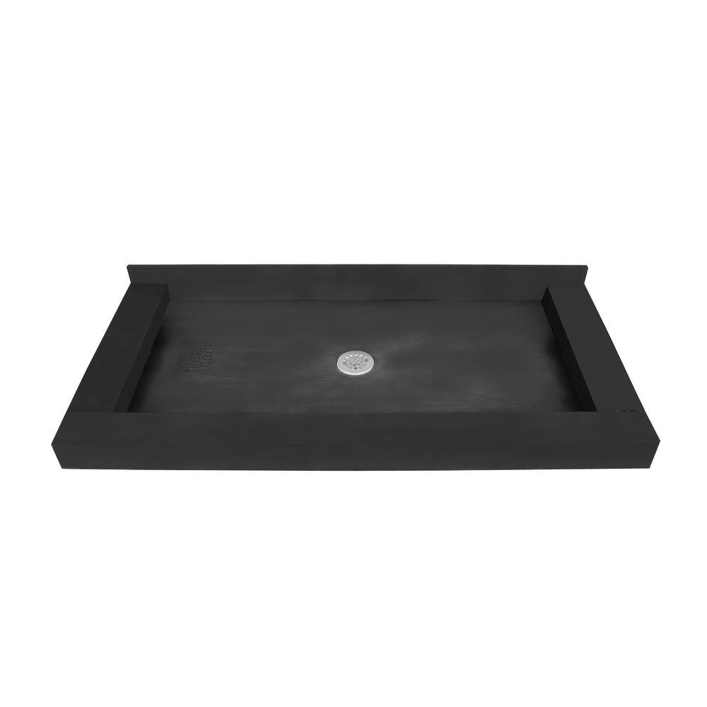 30 in. x 54 in. Triple Threshold Shower Base with Center