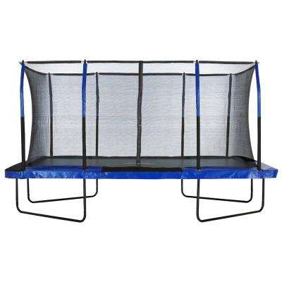 Easy Assemble Spacious 8 ft. x 14 ft. Rectangular Trampoline with Fiber Flex Enclosure Feature