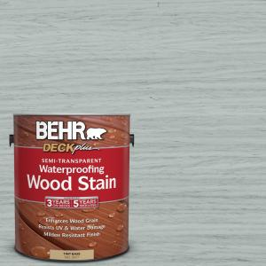 1 gal. #ST-365 Cape Cod Gray Semi-Transparent Waterproofing Exterior Wood Stain