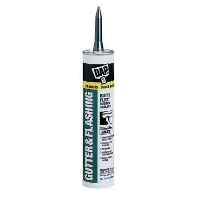 Butyl-Flex 10.1 Aluminum Gray Gutter and Flashing Sealant (12-Pack)