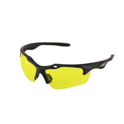 Anti-Scratch Safety Glasses with Yellow Lenses