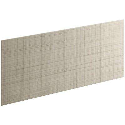Choreograph 0.3125 in. x 60 in. x 28 in. 1-Piece Shower Wall Panel in Sandbar with Linen Texture