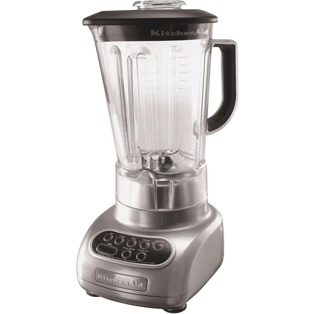 KitchenAid 5-Speed Polycarbonate Jar Blender in Metallic Chrome-DISCONTINUED