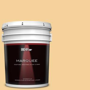 Behr Marquee 5 Gal 320c 3 Honey Butter Flat Exterior Paint Primer 445405 The Home Depot