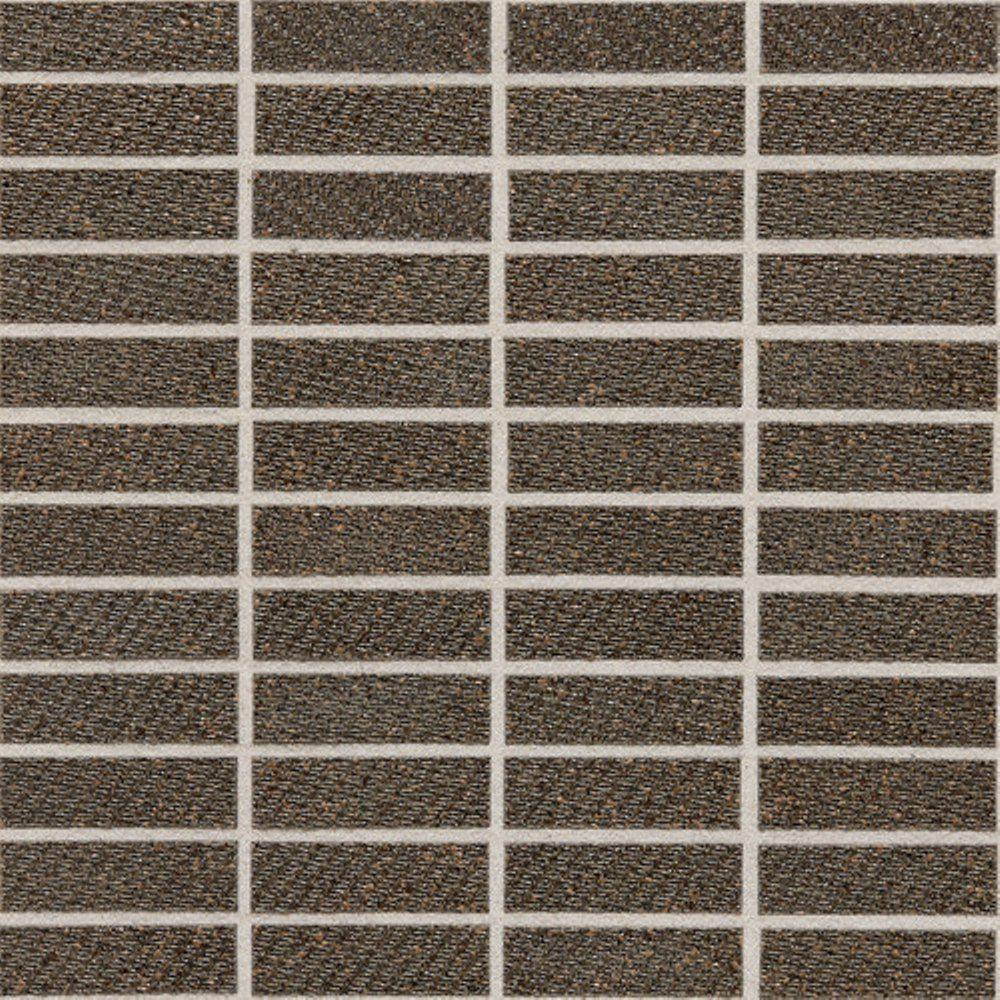 Daltile Identity Oxford Brown Fabric 12 in. x 12 in. x 9-1/2 mm Porcelain Sheet-Mounted Mosaic Tile-DISCONTINUED