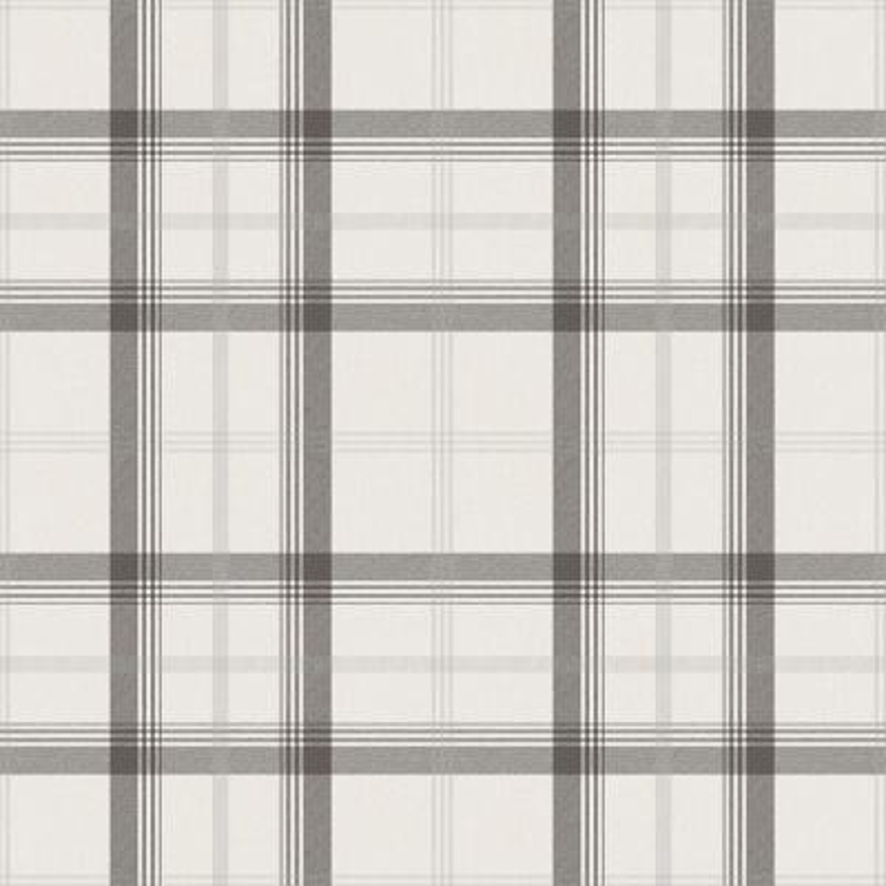 56.4 sq. ft. Cambridge Black Plaid Wallpaper