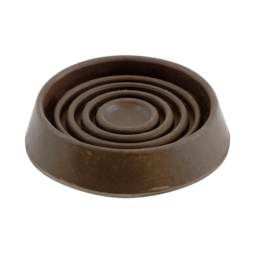 Shepherd 1 1 2 In Brown Smooth Rubber Furniture Cups 4