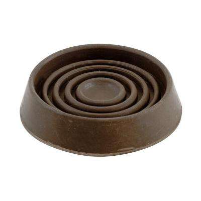 1-1/2 in. Brown Smooth Rubber Furniture Cups (4 per Pack)