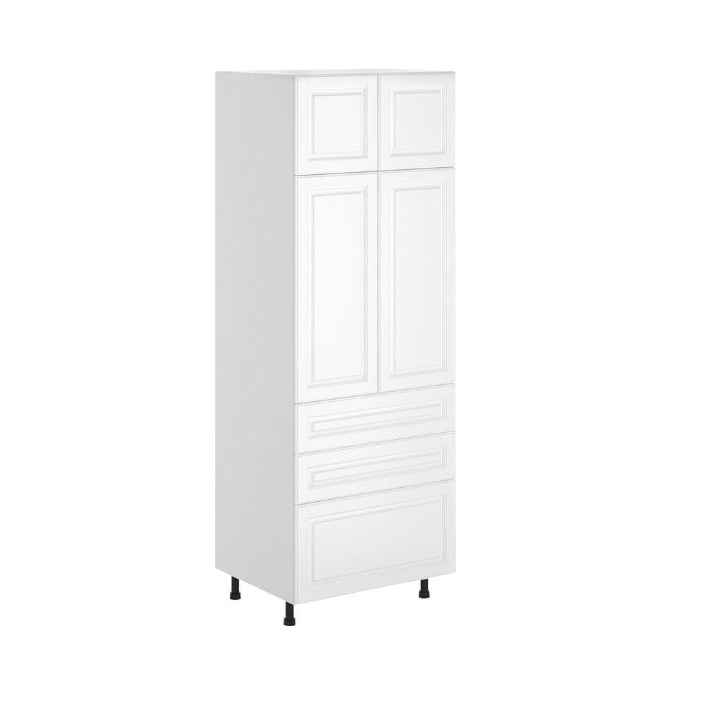 Fabritec Birmingham Ready To Assemble 30 X 83 5 X 24 5 In Pantry Utility Cabinet In White