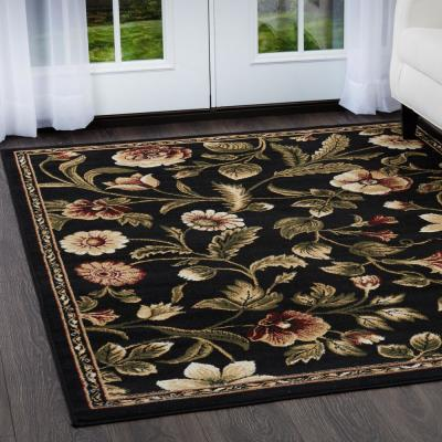 Optimum Black 8 ft. x 10 ft. Indoor Area Rug