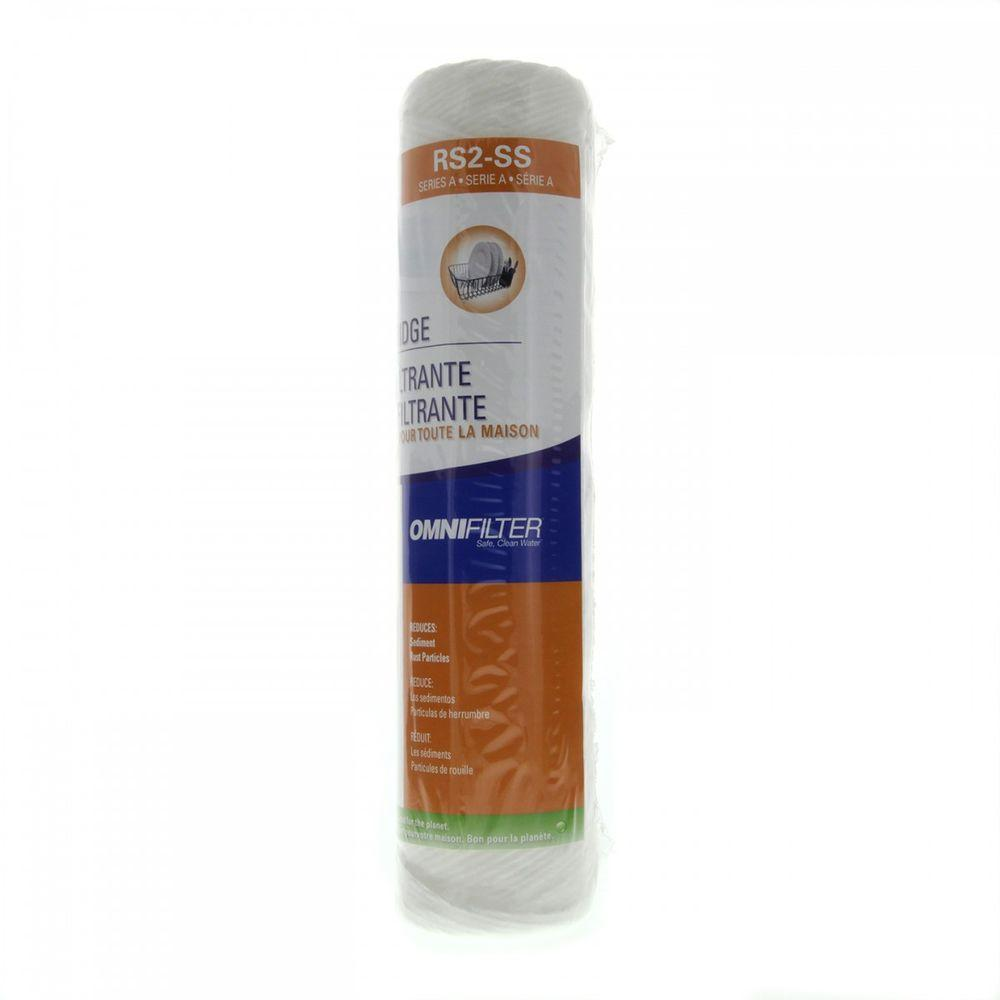 OmniFilter 10 in. x 2 in. Whole House Water Filter Cartridge