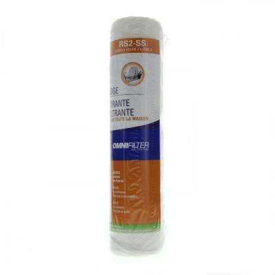 10 in. x 2 in. Whole House Water Filter Cartridge
