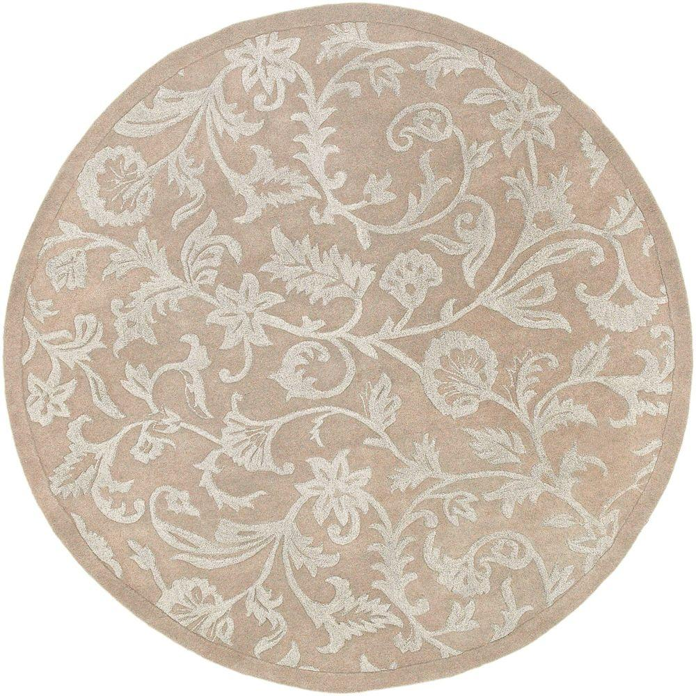 Artistic Weavers Campeche Beige 7 ft. 9 in. x 7 ft. 9 in. Round Area Rug