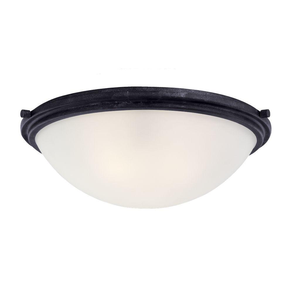 Winnetka 3-Light Blacksmith Flushmount